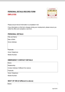 HR personal details