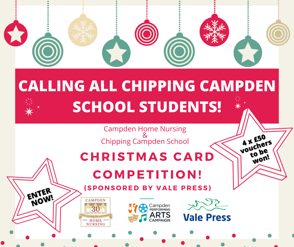 Campden Home Nursing holds a Christmas Card Design Competition for students at Chipping Campden School