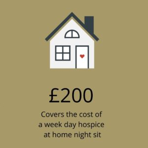 The cost of a hospice at home night sit